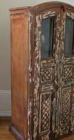 Unique Tall Two Door Teak & Painted Cabinet (4 of 16)