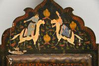 Antique Persian Painted Wood Mirror (10 of 11)