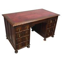Oak Pedestal Desk by Waring & Gillows, Lancaster