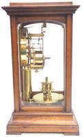 Rare Gustav Becker 400-day Torsion Clock German Mantel Clock Mahogany & Bevelled Glass Case (5 of 13)