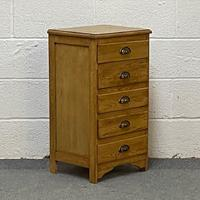 Old Pine Bedside Chest of Drawers (3 of 4)