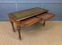Very Good Victorian Burr Walnut Writing Table (12 of 16)