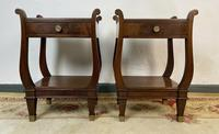 Vintage French Mahogany Bedside Tables (2 of 14)