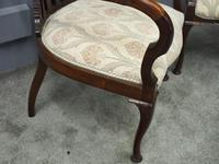 Art Nouveau Style Inlaid Mahogany Elbow Chairs (9 of 11)