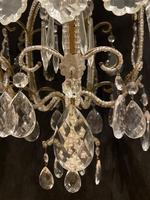 One Light Small Antique Italian Beaded Chandelier (8 of 11)