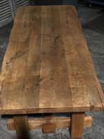 Chunky Bleached Oak Farmhouse Dining Table (12 of 12)