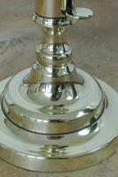Pair of 18th Century English Gregorian Brass Candlesticks 1790-1810  Push up Ejector (4 of 8)
