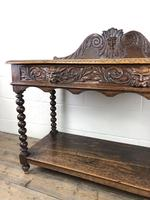 Victorian Gothic Oak Side Table with Green Man Details (15 of 17)