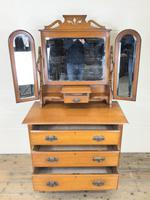 Antique Satin Walnut Dressing Table with Mirrors (3 of 10)