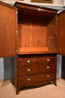 Lovely George III Mahogany Linen Press (3 of 8)