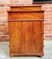 Antique Victorian Inlaid Burr Walnut Davenport Writing Desk (4 of 12)