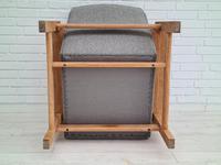 Danish Design by H.J.Wegner, GE 163a, Armchair, Oak, 70s, Furniture Wool, Renovated (9 of 9)