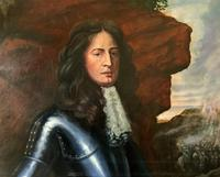 Huge Oil Portrait Painting 'King William III' After Sir Peter Lely (6 of 13)