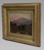 W Thomas - Pair Of Cattle Scenes - 19thc Oil On Canvas's (3 of 5)