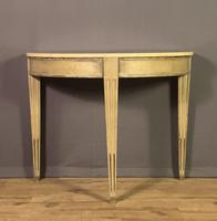 Pair of Swedish Gustavian Style Painted Marble Top Console Tables (3 of 12)
