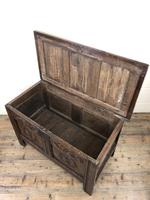 Small 18th Century Carved Oak Coffer (5 of 13)