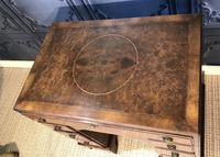 George III Style Burr Walnut Desk c.1920 (15 of 20)