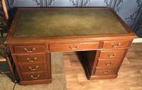 Edwardian Mahogany Pedestal Desk (2 of 4)