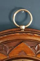 Antique Polished Walnut Barometer (4 of 5)