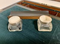 Antique Victorian Rosewood Abalone Mother of Pearl Inlaid Writing Slope Box (6 of 13)