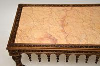 Antique Carved Marble Top Coffee Table (4 of 14)