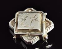 Victorian Silver Swallow Locket Brooch (4 of 11)