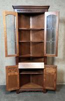 Wood Bros Old Charm Furniture Oak Corner Cabinet (9 of 13)