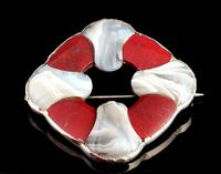 Victorian Scottish Agate and Silver Brooch (2 of 7)
