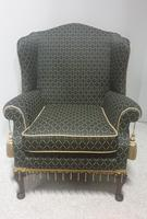 Georgian Style Upholstered Wing Armchair c.1920 (2 of 7)