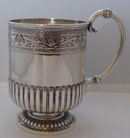 Rare Scottish Glasgow 1882 Solid Silver 1/2 Pint Tankard Christening Mug (10 of 13)