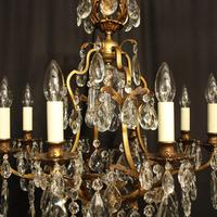 French Gilded Bronze & Crystal Chandelier (7 of 10)