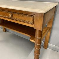 French Marble Top Faux Bamboo Dressing Table (4 of 8)