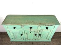 Victorian Antique Pine Painted Dresser Base Sideboard (13 of 14)