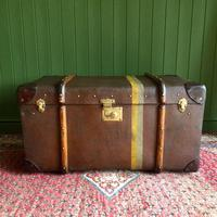 Steamer Trunk 1930s Art Deco Bentwood Travel Chest Coffee Table Storage (2 of 10)