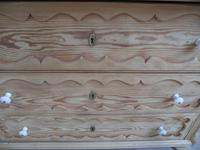 Georgian Pretty Moulded Antique Pine Chest of Drawers to wax / paint (8 of 13)