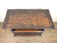 Antique Carved Oak Monk's Bench (8 of 10)