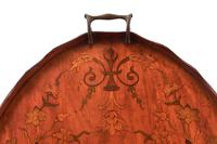 Sheraton Revival Oval Satinwood Inlaid Serving Tray c.1880 (5 of 6)