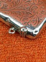 Antique Sterling Silver Hallmarked Vesta 9ct Gold Cartouche 1911, Smith & Bartlam (6 of 9)