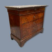 French Marble Top Commode with Writing Surface (5 of 9)