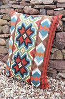 Swedish 'Folk Art' Vintage Large Woven Röllakan Cushion c.1930 (25 of 26)