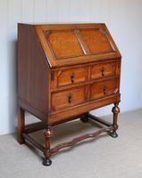 Solid Golden Oak Bureau (5 of 10)