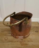Copper Helmet Coal Scuttle (3 of 5)