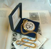 Vintage Pocket Watch 1970s Railroad 12ct Gold Plated Swiss & West Germany Nos (3 of 12)