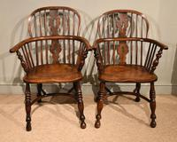 Ash & Elm Low Back Windsor Armchairs (2 of 9)