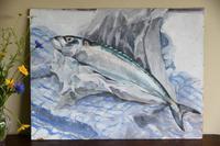 Still Life - Mackerel Oil Painting (4 of 11)