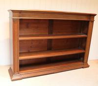 Substantial Oak Open Bookcase (7 of 9)