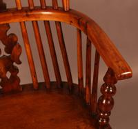 Yew Wood High Windsor Chair c.1850 (5 of 9)