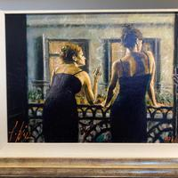 """Fabian Perez Hand Embellished Artists Proof Print """"Cenisientas of the Night"""" with Certificate of Authenticity (2 of 6)"""