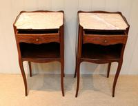 Pair of French Mahogany Inlaid Bedside Cabinets (8 of 10)