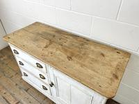 Distressed Antique Pine Cupboard with Painted Base (5 of 10)